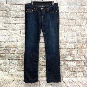 True Religion Womens Straight Leg Jeans 31x35 Blue